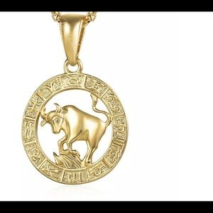 "Taurus Zodiac Sign 20"" Gold Filled Necklace"